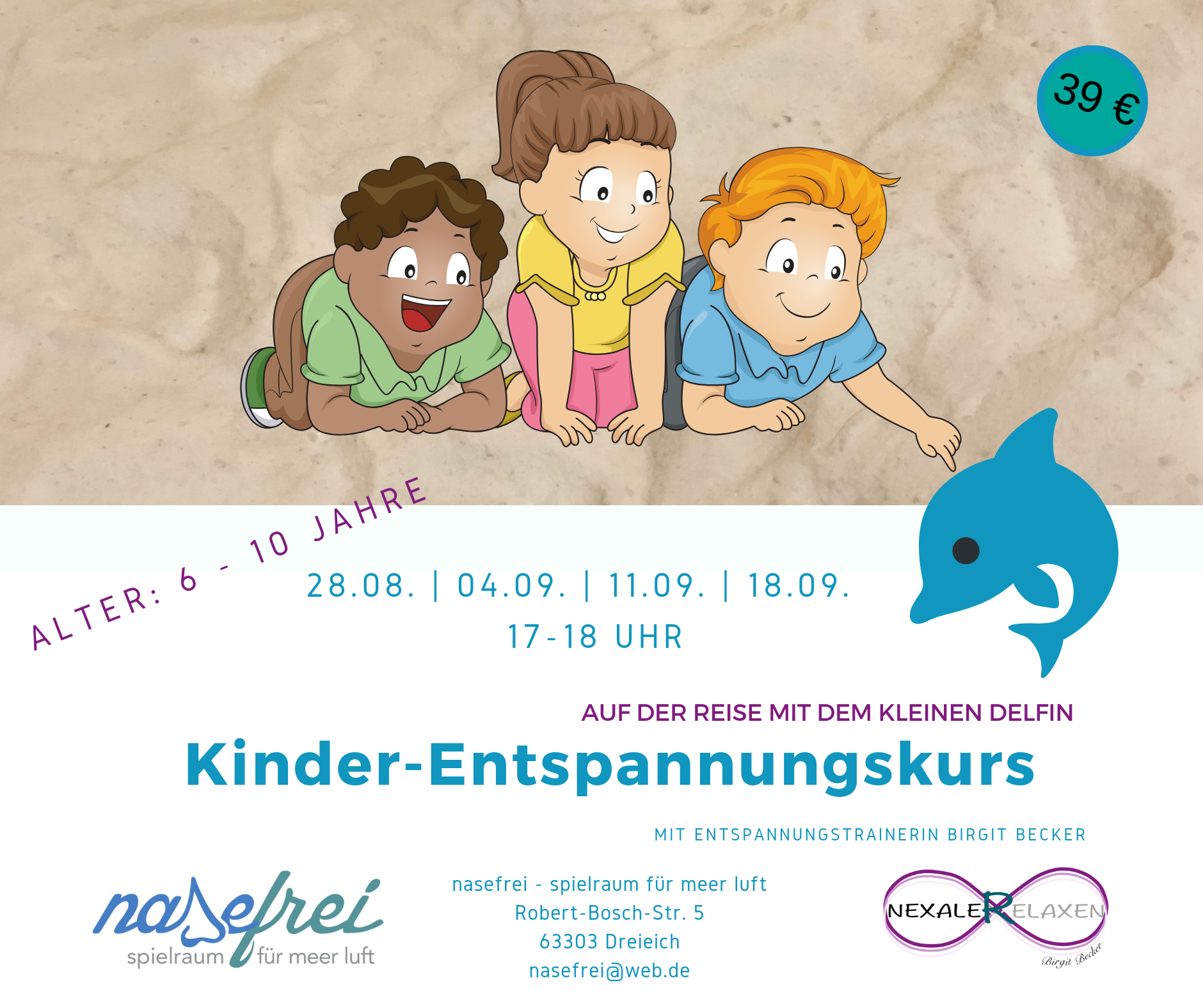 Kinder-Entspannungskurs  August/September 2019 @ Nasefrei